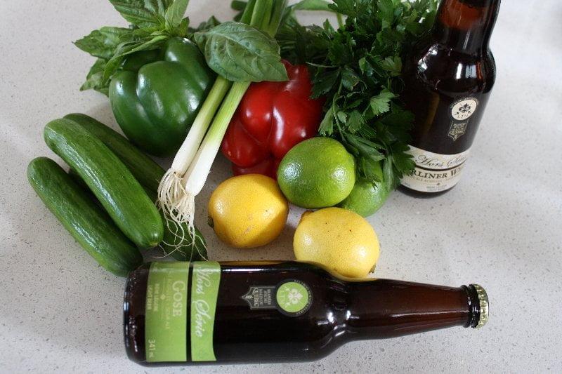 ingrédient de gaspacho à la bière