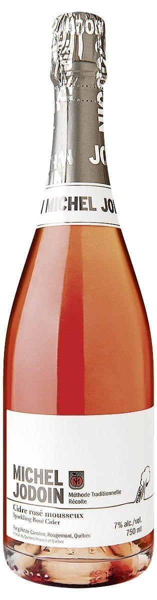 Une bouteille du cidre mousseux Rosé de Michel Jodoin