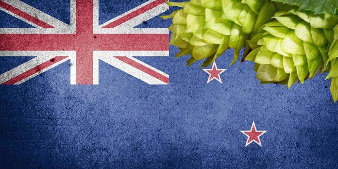 Des cocotes de houblons néo-zélandais sur le drapeau de la Nouvelle-Zélande