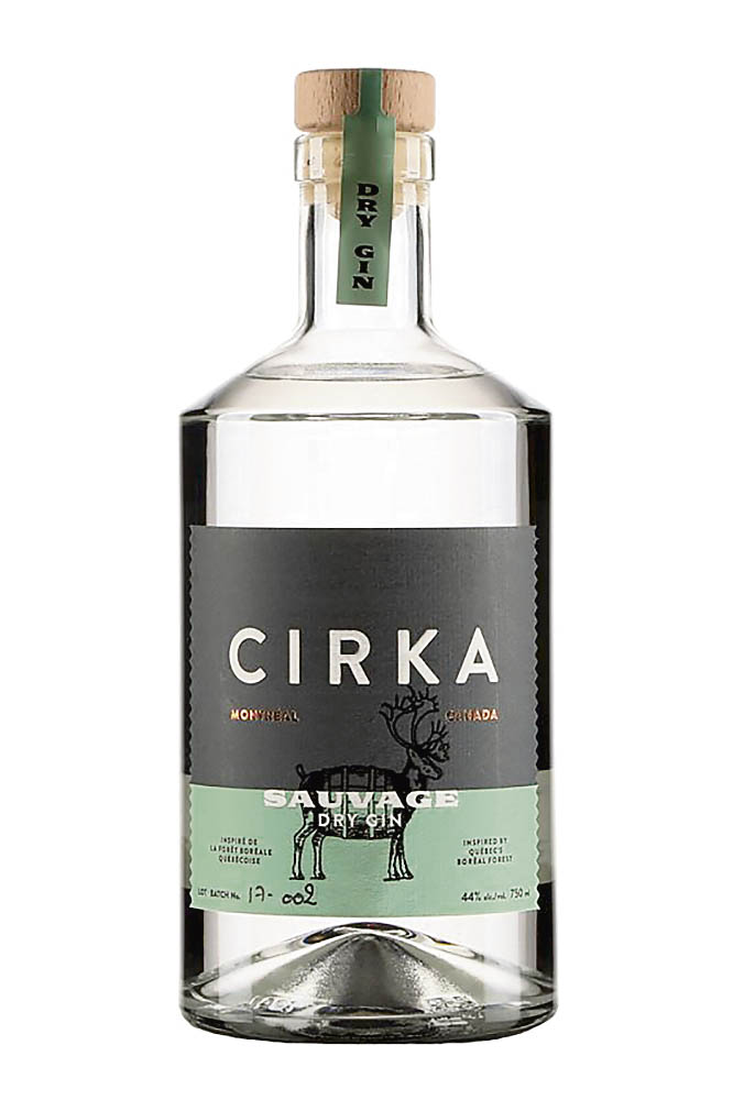 Une bouteille de gin Cirka Sauvage, 44%