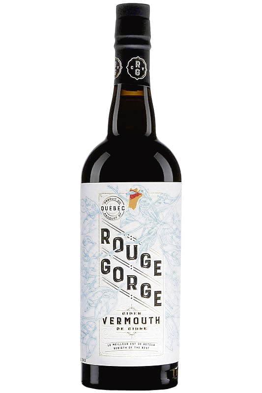 Une bouteille du Domaine Lafrance Rouge Gorge Vermouth de cidre, 18 %