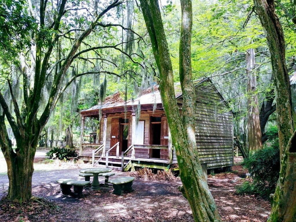 Une case d'esclave à la Plantation Destrehan