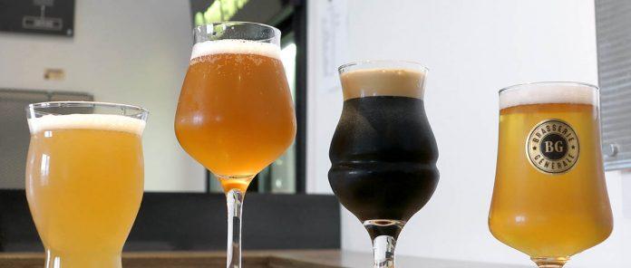 Quelques bières de la Brasserie Générale