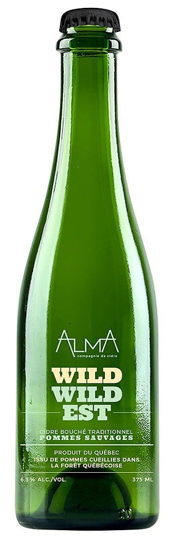 une bouteille de Alma Compagnie de cidre Wild Wild Est